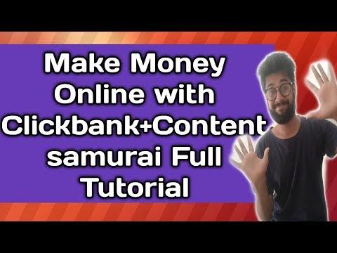 Earn 100$ a Day Clickbank +Content Samurai