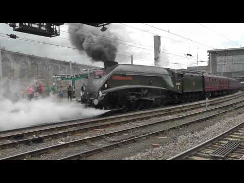 LNER A4 Pacific No. 60009 'Union of South Africa' at Carlisle Cumbrian Mountain Express 1Z21.m2ts