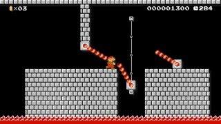 """Super Mario Maker Levels: """"Bowser Jr's 8-bit Firebars"""""""