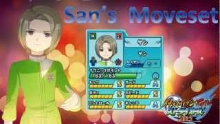 San's Moveset in Inazuma Eleven Go Strikers 2013