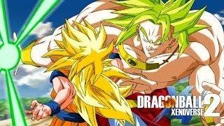 Epic battle between goku ssj3 vs broly | dragon ball xenoverse 2