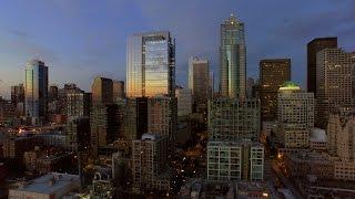 Seattle Cityscape Sunset | 4k