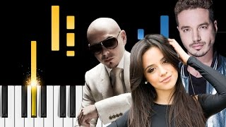Pitbull & J Balvin - Hey Ma (ft. Camila Cabello) - Piano Tutorial - Como tocar Hey Ma el piano