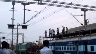 IRFCA : Electrification of Wadi Junction, Karnataka (Indian Railways) width=