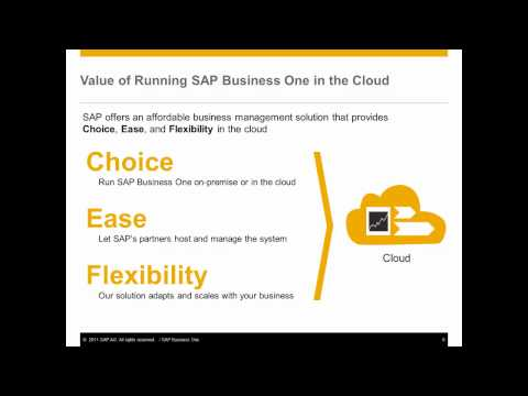 SAP Business One Cloud Overview
