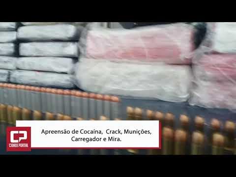 Polícia Rodoviária Federal apreende cocaína, crack, munições, carregador e mira em Santa Terezinha de Itaipu