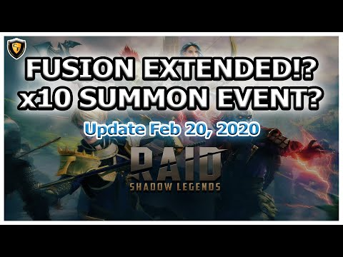 RAID Shadow Legends | Fusion Extended?! | x10 Summon Event Incoming?