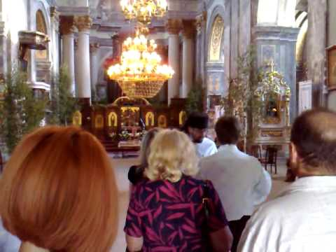 Baptism Cerimony Lviv St  Michael Church Ukraine