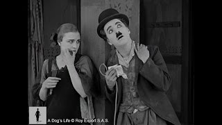Edna Purviance flirts with Charlie Chaplin - A Dog's Life (1918)