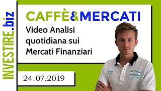 Caffè&Mercati - EURUSD si avvicina ai minimi di periodo