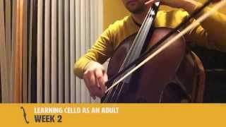 Learning Cello as an Adult - Week 2