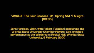 Vivaldi The Four Seasons Spring Mvt 1 Allegro Classical Music