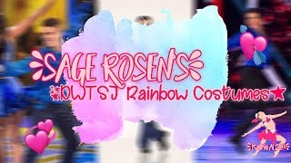 Sage Rosen's Rainbow DWTS Junior Costumes!