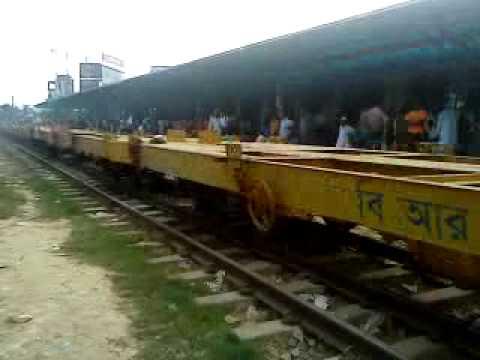 Bangladesh Railway Goods train and Subarno Intercity video on Airport St. .MP4