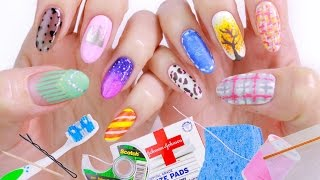 10 Nail Art Designs Using HOUSEHOLD ITEMS! | The Ultimate Guide #2