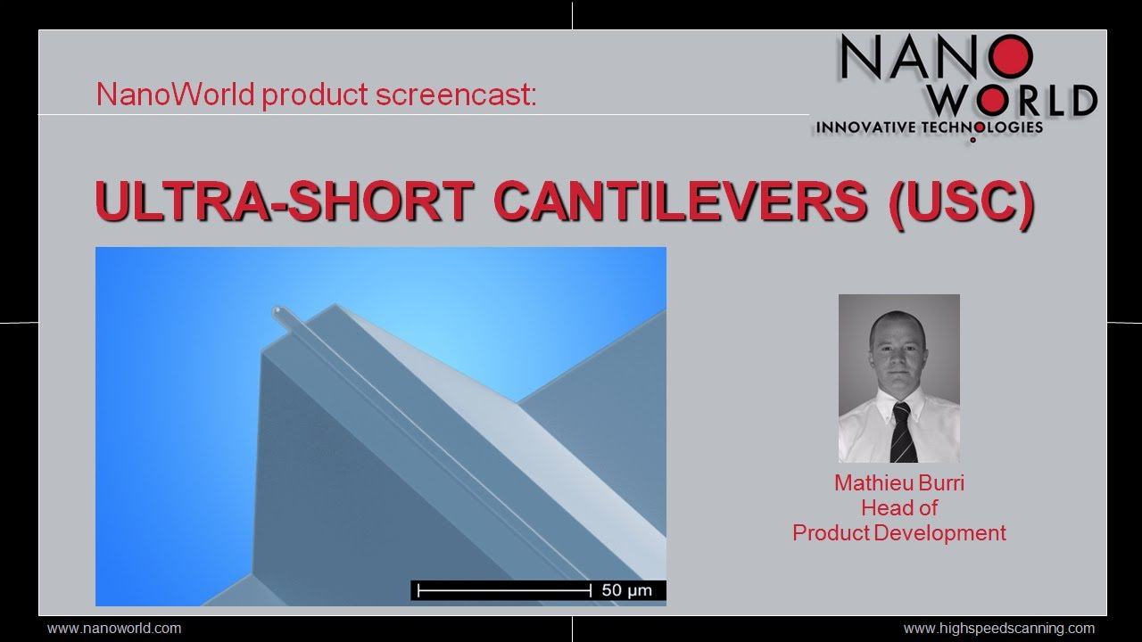 NanoWorld Ultra-Short Cantilevers (USC) for High Speed Scanning