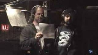 Petrucci and Portnoy dancing