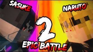 ★MINECRAFT ANIMATION★.- Naruto vs Sasuke #2 | Epic Fight | - HD