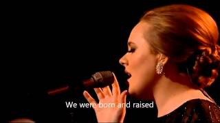 Adele Someone like you OFFICIAL VIDEO LYRICS HD Live from Brit Awards 2011