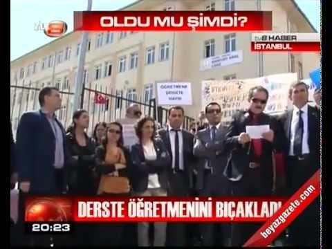 Öğrenci sınıfta öğretmen bıçakladı. İstanbul Esenyurt. AKP ALO 147 ÖĞRETMEN İHBAR HATTI