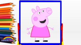 PEPPA PIG | APRENDA AS CORES COLORINDO PEPPA PIG EM PORTUGUÊS BRASIL 2016 | VIDEO INFANTIL EDUCATIVO