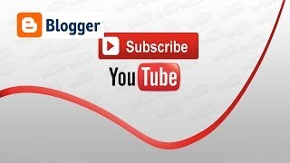 How to add youtube channel subscribe button to blogger