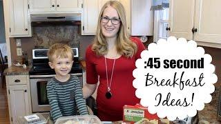 :45 second breakfast ideas!  (feat. Jimmy Dean)