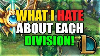 What I HATE About Each ELO Tier! (League of Legends)