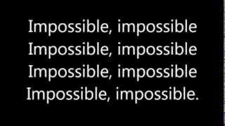 James Arthur ~ Impossible (Lyrics)