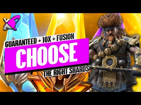 CHOOSE THE RIGHT SHARDS FOR YOUR ACCOUNT! | 10X & Guaranteed Champ & Fusion! | RAID: Shadow Legends