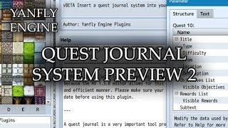Quest Journal System Preview 2 - RPG Maker MV