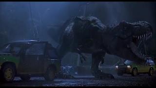 Jurassic Park T. rex Breakout!