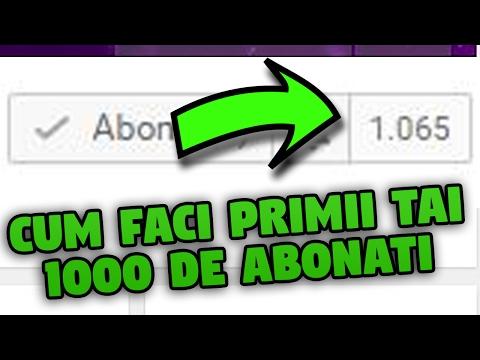 CUM FACI PRIMII TAI 1000 DE ABONATI PE YOUTUBE