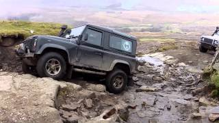 Land Rovers Green Laning in the Yorkshire Dales