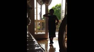 7 year old dancing and frolicking (future guido)