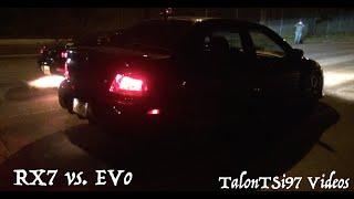 Big Turbo RX7 vs Big Turbo EVO Dig Race