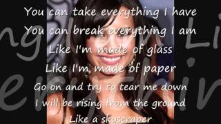 Skyscraper - Demi Lovato Lyrics