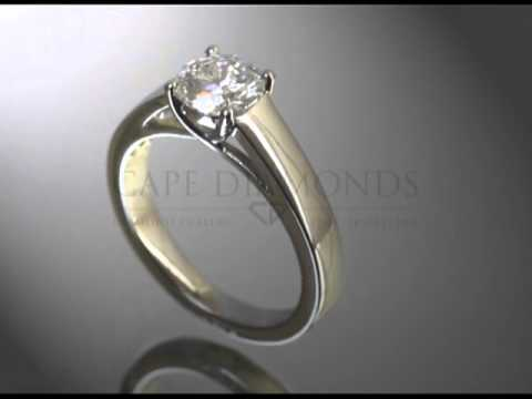 Solitaire ring,round diamond,plain band,engagement ring