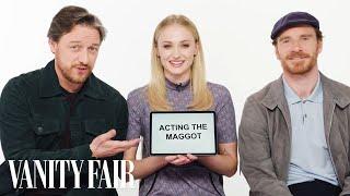 Sophie Turner, James McAvoy and Michael Fassbender Teach You English, Scottish and Irish Slang