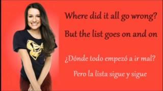 Glee: Gives You Hell (Lyrics + Español)