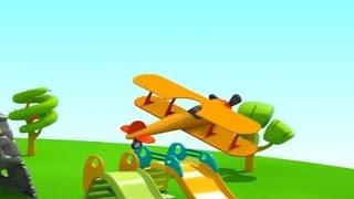 Leo der neugierige Lastwagen und das Flugzeug mit Propeller! Kindercartoon