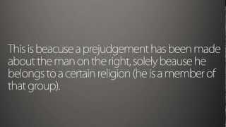 Prejudice vs Discrimination [Typography]