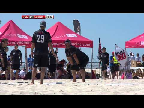 Video Thumbnail: 2015 World Championships of Beach Ultimate, Men's Masters Gold Medal Game: USA vs. Canada