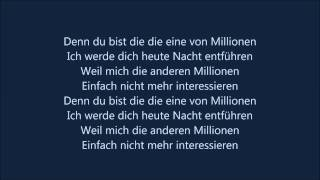 Rapsoul-Eine von Millionen Lyrics on Screen