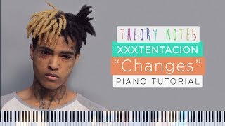 How to Play XXXTENTACION - Changes   Theory Notes Piano Tutorial