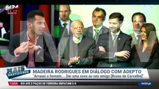 Pedro Madeira Rodrigues em diálogo com adepto