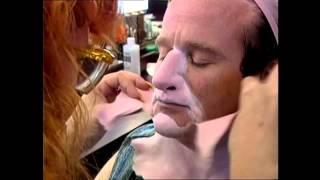 Behind the scenes look on mrs doubtfire makeup
