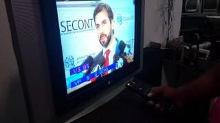 TV LG 21 imagem verde modelo rp21fe85