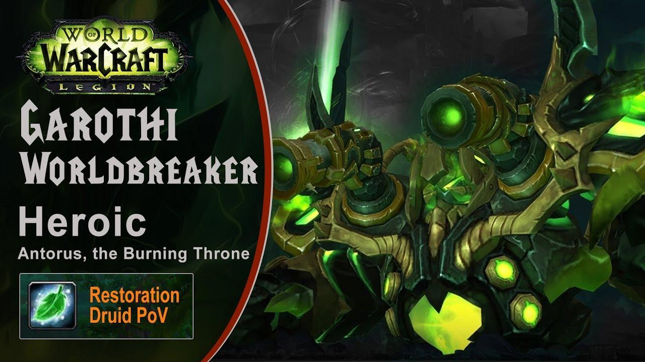 [LGN] Garothi Worldbreaker, Heroic Antorus, Restoration Druid PoV (Game Sounds Only)