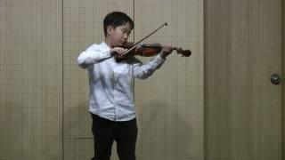 박지호 바이올린 연주(보케리니 미뉴엣) 20170327